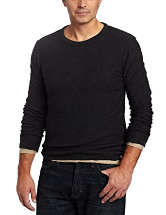 Benson Men's Reversible Slub Tee, Charcoal/Grey, Small