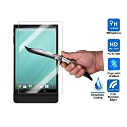 IVSO DELL Venue 8 7840 Ultra-thin 9H Hardness 2.5D Round Edge Highest Quality HD clear& Anti-Scratch/ Shatterproof/ Anti-Fingerprint/ Water Premium Tempered Glass Screen Protector (1pcs)