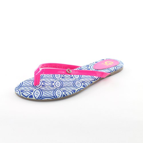 G by GUESS Womens Bayla2 Flip Flops in Medium Pink