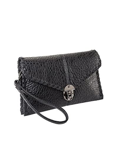 Sydney Love Women's Whipstitched Clutch, Black As You See