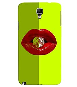 PrintVisa Hot & Sexy Lips Diamond 3D Hard Polycarbonate Designer Back Case Cover for Samsung Galaxy Note 3 Neo