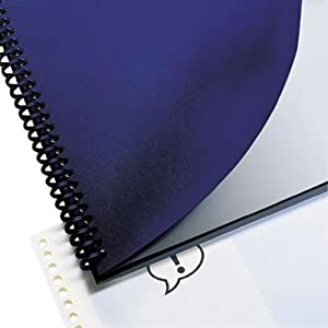 GBC Leather Look Premium Presentation Covers, Binding Covers, Non-Window, Rounded Corners, Navy, 200 Pieces Per Box (2000711)