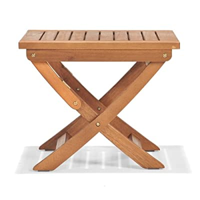 ScanCom Chichester FSC Eucalyptus Wood Outdoor Side Table