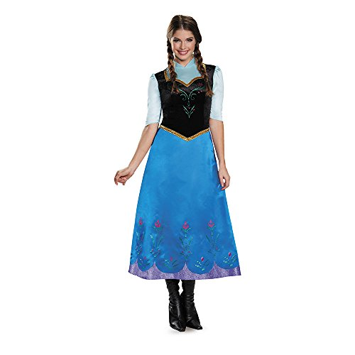 Halloween 2017 Disney Costumes Plus Size & Standard Women's Costume Characters - Women's Costume Characters Disguise Women's Anna Traveling Deluxe Adult Costume Size XS - XXL (4/6 - 18/20) Standard / Plus Sizes