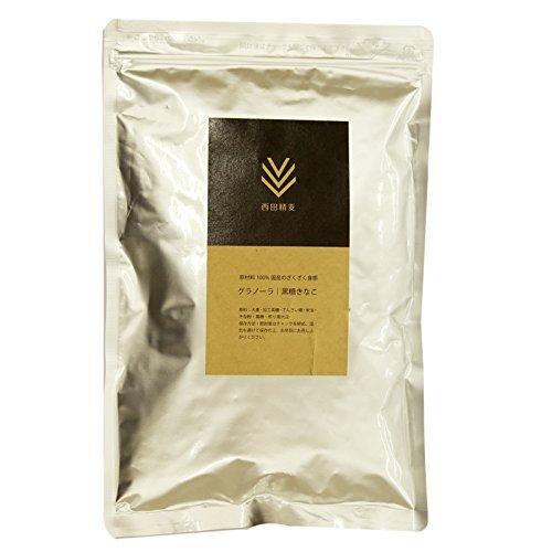 西田精麦 国産 大麦 グラノーラ 黒糖きなこ 3袋 ( 180g × 3 ) 九州産 大麦100%使用!