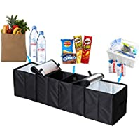 Deler Foldable 4-Compartment Trunk Organizer with Cooling and Insulation