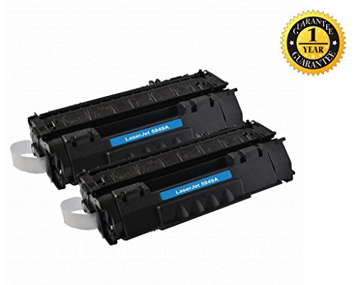 Global Toner ®2 Pack Compatible HP Q5949A (49A)/Q7553X(53X) Toner Cartridge for HP LaserJet 1160/1320/1320N/3390/3392 Series