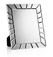 Rectangular Graphical Sunburst Table Top Mirror