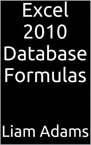 Excel 2010 Database Formulas front-981073