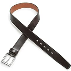 Layered Flat Cordovan Belt KTB-159: Dark Brown