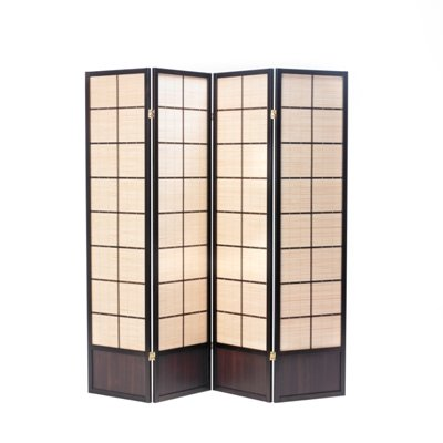 Oriental Matsu Screen Room Divider in Walnut