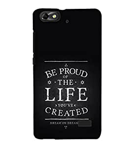 EPICCASE Proud Of Life Mobile Back Case Cover For Huawei Honor 4C (Designer Case)