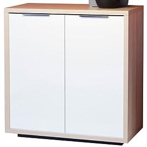 Mobile base dispensa 2 ante soggiorno frassino laccato bianco bs5084 l86h86p45 casa - Base mobile cucina ...