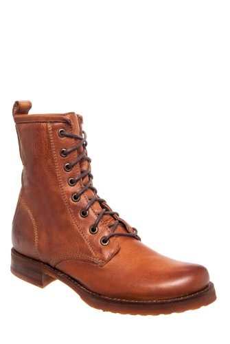 Frye Veronica Combat Low Heel Lace Up Boot