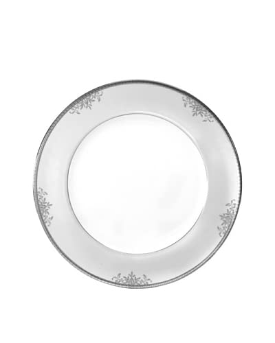 Mikasa Floral Elegance 12 Round Buffet Platter, White/Platinum