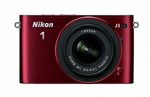 Nikon 1 J3 14.2 MP HD Digital Camera with 10-30mm VR 1 NIKKOR Lens (Red)