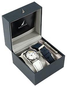 Nautica Men's N09922G Sport Classic Analog Enamel Bezel Watch Set