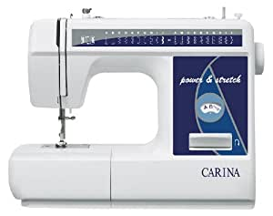 Carina Power und Stretch blau Nähmaschine mit Zubehör