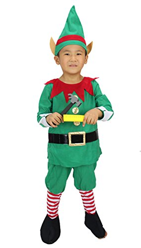Meilaier Kids Elf Christmas Outfit Halloween Costumes Boys Party Clothing