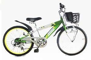 RAYSUSレイサス 自転車 24インチ RY-246KD-H-GR キッズバイク シマノ6段ギア ダイナモライト 後輪鍵 95%完成車