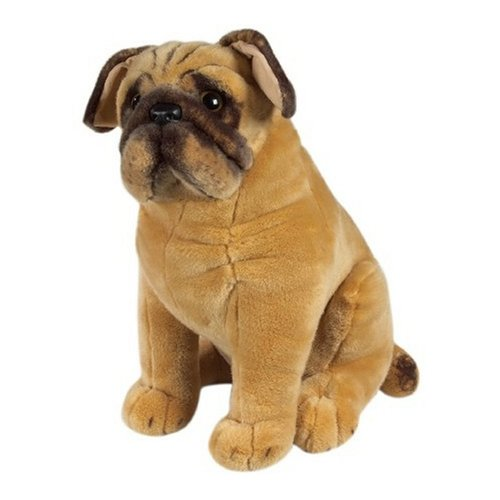 Melissa Doug Life-Like and Lovable Plush Pug Dog