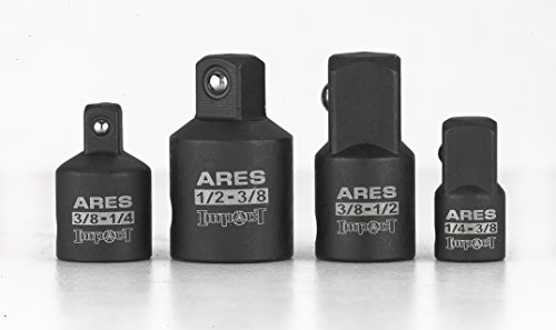 4 Piece Impact Socket Adapter and Reducer Set |ARES 70008| 1/4