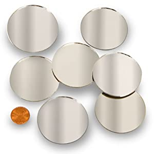"Round 2"" Mini Mirror Can Be Used in Many Craft Projects & Mosaics (60 Pcs)"