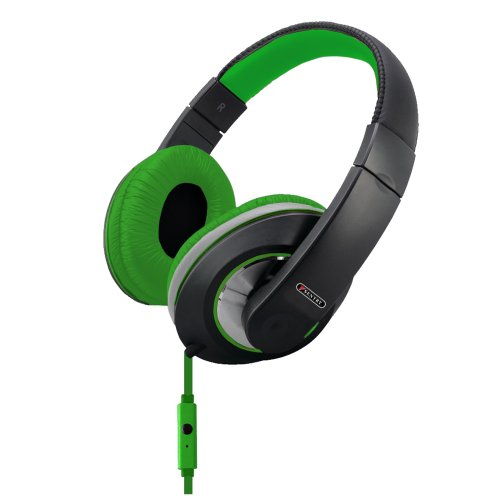 Sentry Industries Inc. Hm962 Deep Bass Stereo Headphones With Mic, Green
