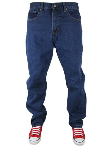 New Mens Stone Wash Kam K150 Designer Straight Leg Jeans Size W40 L30