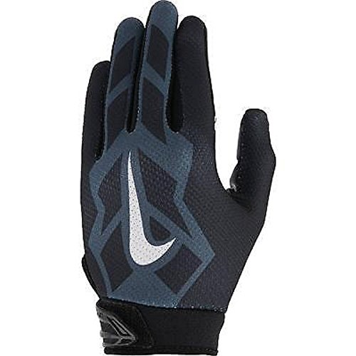 Nike Youth Vapor Jet 3.0 Football Gloves youth (Black/White/Grey, Large) (White Nike Football Gloves compare prices)