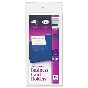 Amazon Avery Self Adhesive Top Load Business Card