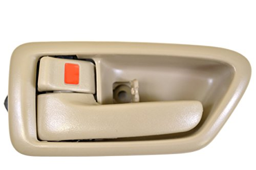 PT Auto Warehouse TO-2562E-LS - Inside Interior Inner Door Handle/Trim, Beige/Tan - Driver Side (Driver Door Handle 98 Camry compare prices)