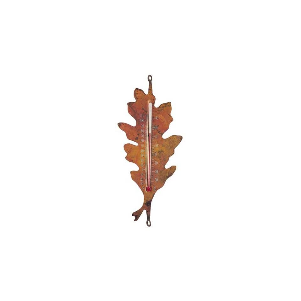 Oak Leaf Nature Thermometer   flamed Copper, Indoor