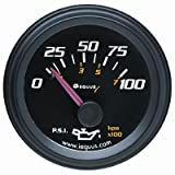 Equus 6234 Oil Pressure Gauge - Black