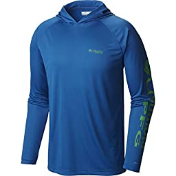 Columbia Sportswear Men\'s Terminal Tackle Hoodie, Windswept/Dark Lime, Large