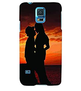 ColourCraft Valentine Love Couple Back Case Cover for SAMSUNG GALAXY S5