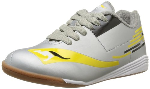 Kangaroos Boys' Tail Ahead Lace Trainers Silver Argent (979 Silver Acid Yellow) 33