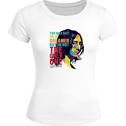 John Lennon The Beatles Iconic Roc For Ladies Womens T-shirt Tee Outlet