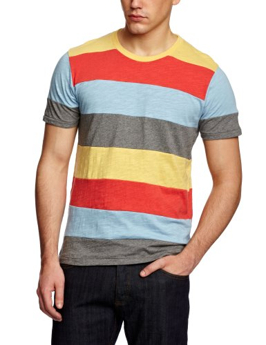Supremebeing Row Patterned Men's T-Shirt Multi Medium