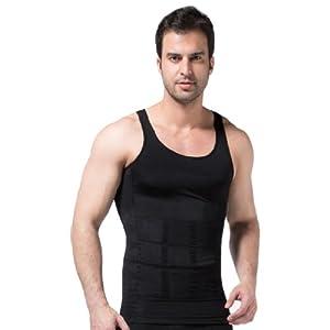 105bac9231c0b Men s Shaper Slimming Undershirts T-shirt Elastic Body Sculpting Vest