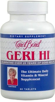 Carol Bond'S Geri-Hi Multiple Vitamins (Complete Line Of Vitamins And Minerals So Gentle To The System It Can Be Taken On An Empty Stomach) 60 Tablets