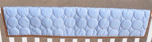 Q Circles Blue/Choc Crib Rail Protector