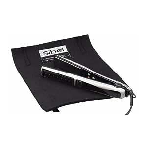 SIBEL Hair straightener heatproof mat & travel/storage pouch