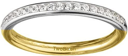 Silver Fine Channel Set Wedding Band with Diamonds 01 ct twt