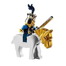 レゴお城シリーズ7078に入った白馬に乗った王様ミニフィグ