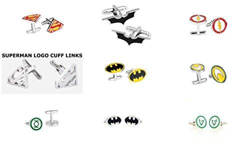 DC-Comics-Superhero-Assorted-Logos-9-Set-Cufflinks-By-Athena