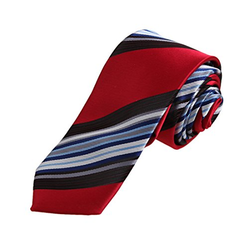 DAE7A13-15-Multicolors-Stripes-Microfiber-Skinny-Tie-For-Bridegrooms-By-Dan-Smith