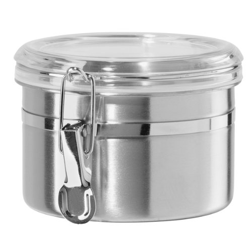 Oggi 26 Ounce Stainless Steel Airtight Canister With Clear