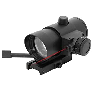 1X40 Red Dot Sight with Built in Red Laser/Quick Release Weaver Mount