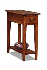 Leick Chair Side End Table, Medium Oak Finish by Leick Furniture
